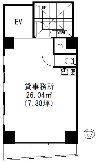 ISC秋葉原5階間取図